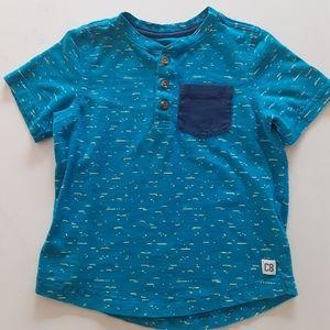 Crazy 8 Boys size 4T button collar Tshirt